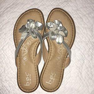 3/$30 Silver Sandals big girl 4